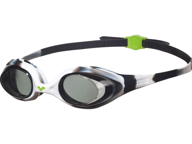 arena Spider Goggles Kinder black-white-clear